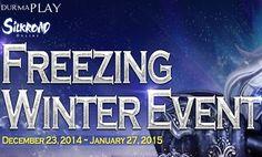 http://oyunpark.co/2014/12/28/silkroad-onlinedan-freezing-winter-etkinligi/  Silkroad Online 23 Aralık 2014 ile 27 Ocak 2015 tarihleri arasında hem tekli hem de gruplarla birlikte oynanabilen Silkroad Online Freezing Winter Event etkinliği başlatıyor  Bu etkinliğe tüm Silkroad Online oyuncuları davetli olup, detayları şu şekildedir