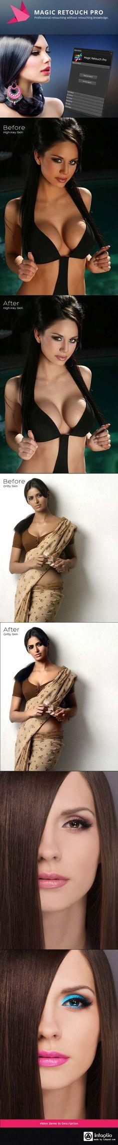 Magic Retouch skin Photoshop Action