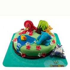 Animal Kingdom Cake  Gift your little ones their very own animal kingdom and light up their special day.  Lions, blue elephants, Monkeys, Hippos and Duck created from quality fondant galore the landscape of this succulent cream cake available in a choice of flavours. A truly beautiful cake to adorn every party celebrating the little ones who bring immense joy to our lives.  Order Online at www.cakebee.in  #Cakebee #CakebeeIn #Cake #Online #Delivery