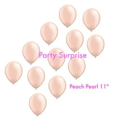 Peach Balloons 11 Peach Wedding Balloons Bridal by PartySurprise