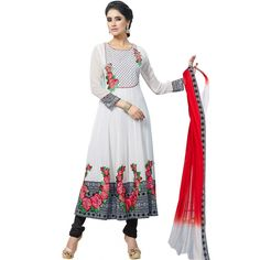 World's Most Selling Bollywoood White Attractive Salvar Suit