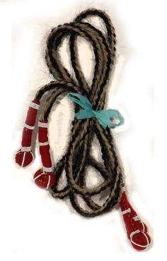 Crow Braided Horse Hair Rope, 19th century, 61  long