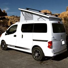 Nissan NV200 on weekend climbing trip in Joshua Tree National Park