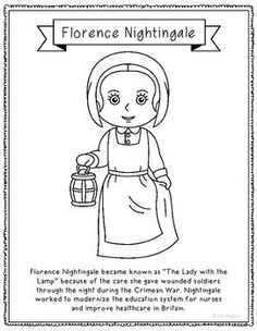 Florence Nightingale Coloring Page