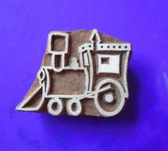 Train Hand Carved Wood Pottery Clay Fabric Textile Stamp Indian Print Block Foam Crafts, Crafts To Do, Carved Wood, Hand Carved, Textile Prints, Textiles, How To Make Bookmarks, Indian Prints, Pottery Clay