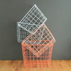 I've just found Four Small Storage Basket Nest. A nest of four wire storage baskets.. £39.00
