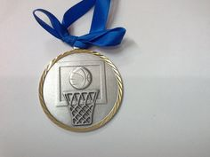 Silver with Gold Trim Basketball Christmas Ornament by GiftWorks. CLICK NOW to buy for $8.95 with FREE SHIPPING.
