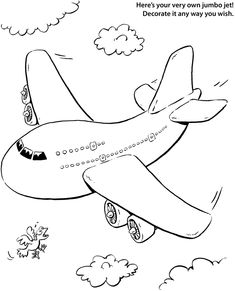 Printable Aeroplane Coloring Page For Kids  Arts  Crafts for