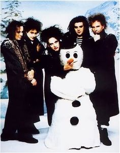 The Cure being festive.