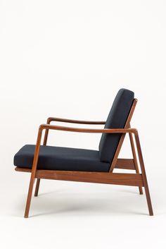Arne Wahl Iversen Lounge Chair Teak - okay art
