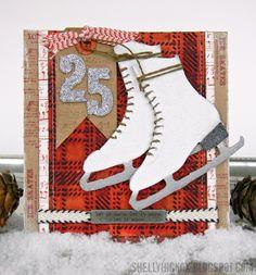 Glittery Ice Skates Card