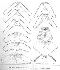 This graphic provides some interesting ideas for patterning harem and split skirt pants Vintage Sewing Patterns, Clothing Patterns, Sewing Clothes, Diy Clothes, Textiles, Sewing Tutorials, Sewing Projects, Make Do And Mend, Sewing Lessons