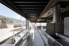 Container house in Santiago de Chile - Open kitchen and dining area Sea Container Homes, Container House Design, Container Houses, Container Architecture, Architecture Design, Shipping Container House Plans, Shipping Containers, Casas Containers, Eco Friendly House