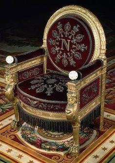 François-Honoré-Georges Jacob-Desmalter (1770 - 1841), After Charles Percier (1764 - 1838) Throne of Napoleon the 1st 1804 Fontainebleau Museum