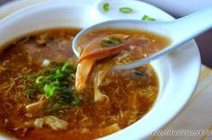Our family's hot and sour soup recipe is from my grandpa, who ran a Chinese takeout joint after moving to the U. Still the best hot & sour soup I've had. Soup Recipes, Chicken Recipes, Cooking Recipes, Amazing Korean Food, Pho, Keto Chinese Food, Healthy Soup, Healthy Recipes, Delicious Recipes