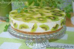 Рецепт: Творожный торт с киви (без выпечки)