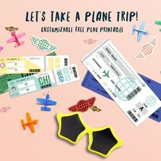 Play Plane Travel Free Printable - fully customizable PDF forms make it easy to help your kiddo travel anywhere they want to go...from the comfort of their own backyard!