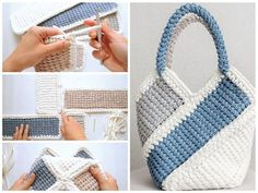 Video tutorial paso a paso 👍 crochet bag bolso – Artofit Purple Passion Project Crochet Purse with Free Pattern This gorgeous tote is called the Purple Passion Project Purse. You will find there features lots of crochet textures. Chat Crochet, Free Crochet Bag, Crochet Tote, Crochet Handbags, Tunisian Crochet, Crochet Purses, Diy Crochet, Crochet Stitch, Crochet Bag Tutorials