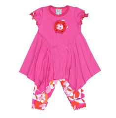 Independent Brand Mis-Tee-V-Us' Pink & Orange Abstract Tunic is bursting with spring hues.