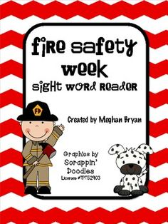 Fire Safety Week {Sight Word Mini Book}