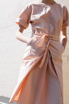 "calivintage: "" Caron Callahan Pia Dress Melon """