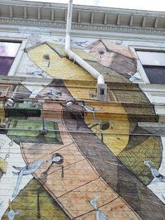 1st Annual GIG Photo Walk: Beautiful Mural near Dolores Park, San Francisco.     Photo Credit: Ashley Lopez