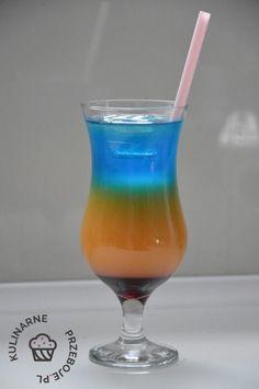 drink żar tropików Drink Me, Food And Drink, Cocktail Drinks, Cocktails, Blue Curacao, Hurricane Glass, Beverages, Tableware, Bar