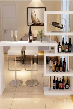 57 Fabulous Home Bar Designs You'll Go Crazy For. Decorating your ideal home bar design. Consider yourself lucky if you've got your own home bar – it's a perfect social gathering spot that's. Living Room Partition, Room Partition Designs, Living Room Bar, Apartment Bar, Apartment Design, Home Bar Furniture, Furniture Design, Rustic Furniture, Kitchen Bar Design