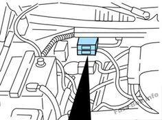 Underhood fuse box diagram Ford F150 (2000, 2001, 2002