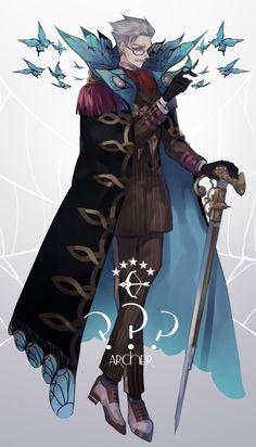 James Moriarty【Fate/Grand Order】 Character Concept, Character Art, Concept Art, Pen & Paper, Fate Archer, James Moriarty, Otaku, Fate Servants, Saeran