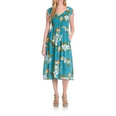 Shop for La Cera Women's Tropical Floral Print Dress. Get free delivery at Overstock.com - Your Online Women's Clothing Destination! Get 5% in rewards with Club O! - 17522649