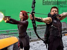 Scarlett Johansson's Black Widow and Jeremy Renner's Hawkeye
