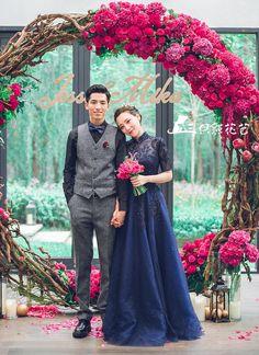 三只熊花艺-罗兰湖 最美黑白条-真实婚礼案例-三只熊花艺作品-喜结网