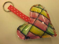Kaarisillan käsityö: Pieniä ystävänpäivälahjoja Key Fobs, Diy Crafts, Sewing, Zero Waste, Craft Ideas, Hama, Ideas, Dressmaking, Key Tags