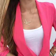 Isabella Oversized Initial Necklace