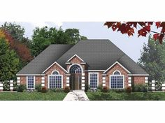 Traditional House Plan with 1909 Square Feet and 4 Bedrooms(s) from Dream Home Source | House Plan Code DHSW67759