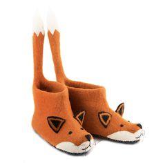 Finlay Fox Adult Felt Slippers
