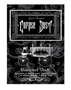 """Corpse Dust"" #BottleLabel #Halloween"