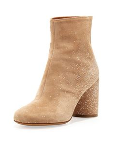 Suede Sparkle Ankle Boots, Flesh  by Maison Martin Margiela at Neiman Marcus.