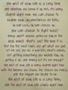 The rest of your life starts now...One Tree Hill