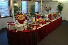 Wedding banquet setting at the Delta King!