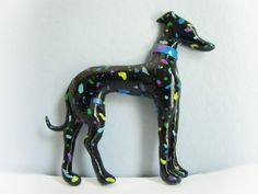 "Greyhound Whippet Galgo Clay Sculpture Wall Art ""Meteor Shower"" by Greyhound Cleyhounds"
