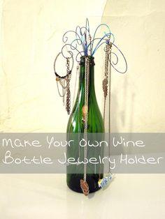 DIY Wine Bottle Jewelry Holder