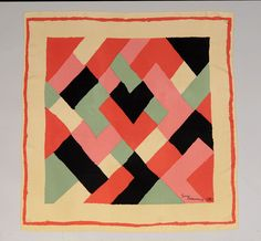 From Katy Kane: An artist as well textile designer, Sonia Delaunay created this scarf for London's Liberty & Co.  in the 1960s.