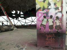 Teach Kids Graffiti  #streetart #stencil