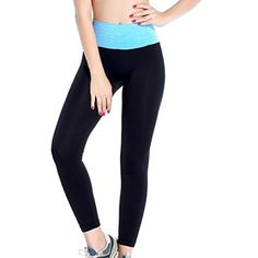 SunWardTMHigh Waist Fitness Yoga Sport Pants Stretch Leggings Large Blue ** Read more reviews of the product by visiting the link on the image.