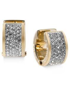 Michael Kors Crystal Pave Huggie Earrings   macys.com