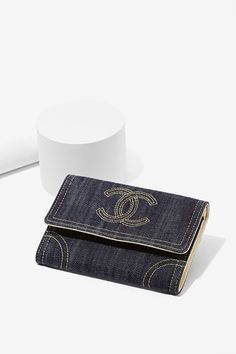 Vintage Chanel Denim Wallet