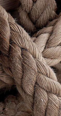 Earth tones...(brown and beige )--brown rope