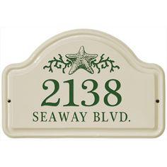 Ceramic Address Plaque Star Fish